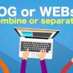 ブログとWEBは分けるべきか