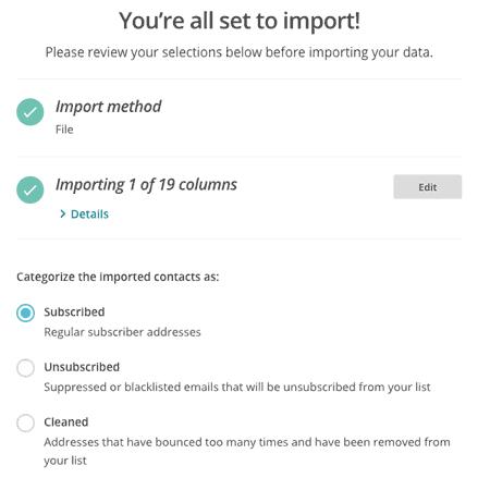 リストをインポート6ーMailChimpでメルマガを始める