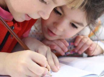 子供,書く,描く,