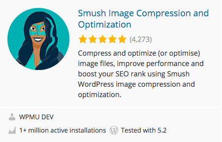 画像を軽くし最適化する「Smush Image Compression and Optimization」