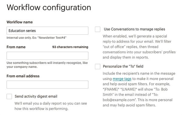 MailChimpステップメールの設定