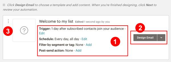 MailChimp ステップメール一通ごとの設定