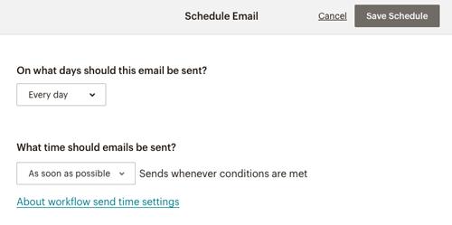 MailChimp メール配信のスケジュール設定