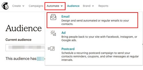 MailChimp ステップメールを作る2