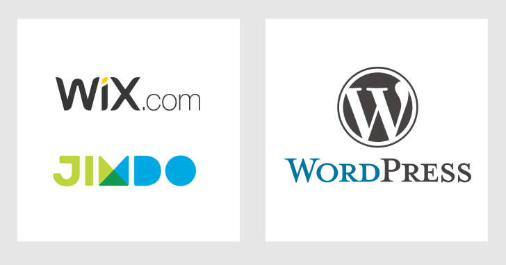 Wix、Jimdo、WordPress