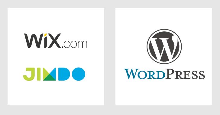 Wix、Jimdo、WordPress